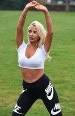 ISABELLE WARBURTON Workout at a Park in Warrington 04/17/2018