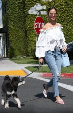 JAMIE CHUNG Out withe Her Dog in Beverly Hills 04/04/2018