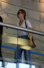 JANUARY JONES at Los Angeles International Airport 04/13/2018