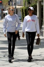 JASMINE TOOKES and JOSEPHINE SKRIVER Out for Lunch at Villa Blanca in Beverly Hills 04/24/2018