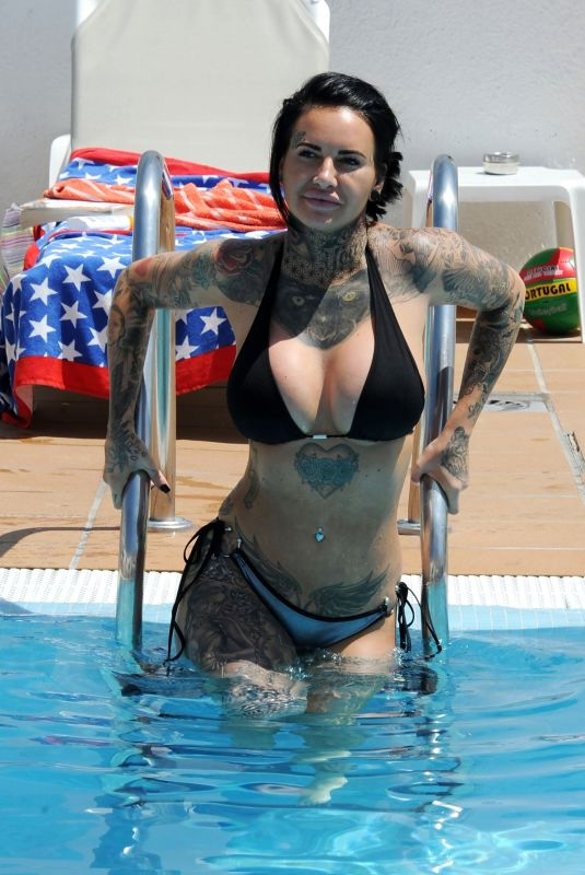 JEMMA LUCY in Bikini at a Pool in Portugal 04/18/2018