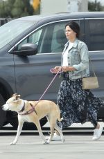 JENNA DEWAN with Her Dog at Veterinary Specialty Center in Los Angeles 04/27/2018