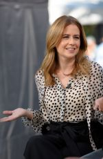 JENNA FISCHER on the Set of Extra in Universal City 03/26/2018