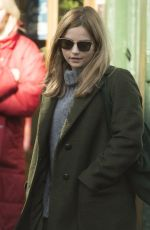 JENNA LOUISE COLEMAN on the Set of Her New Drama The Cry in Glasgow 04/09/2018