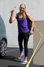 JENNIE FINCH Leaves Dance Studio in Los Angeles 04/28/2018