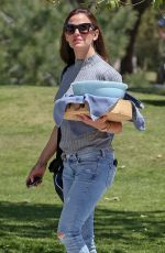 JENNIFER GARNER at Kids Baseball Game in Brentwood 04/21/2018