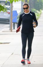 JENNIFER GARNER in Tights Out in Brentwood 04/25/2018