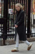 JENNIFER LAWRENCE in Flip Flops Out with Her Dog in New York 04/03/2018