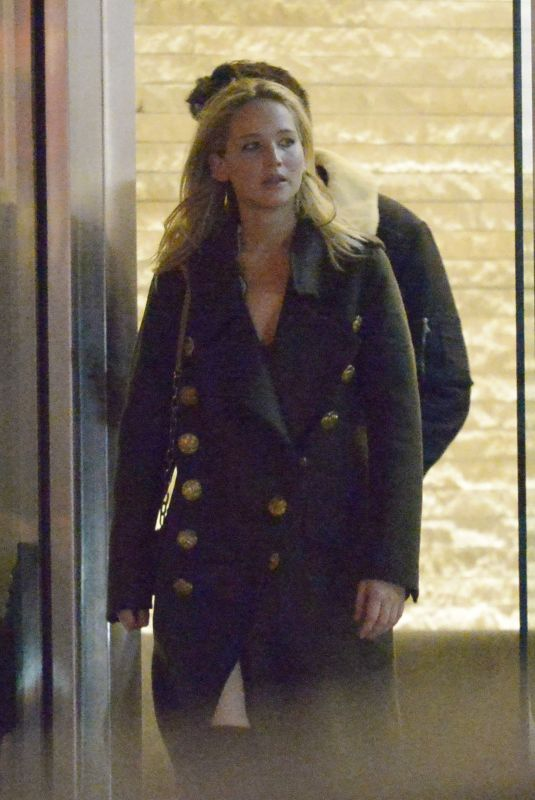 JENNIFER LAWRENCE Out for Dinner in New York 04/08/2018
