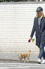 JENNIFER LAWRENCE Out with Her Dog in New York 04/01/2018