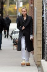 JENNIFER LAWRENCE Out with Her Dog in New York 04/03/2018