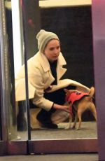 JENNIFER LAWRENCE Out with Her Dog in New York 04/06/2018