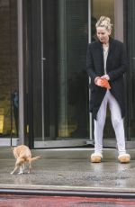JENNIFER LAWRENCE Out with Her Dog in New York 04/16/2018