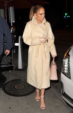 JENNIFER LOPEZ and Alex Rodriguez Out for Dinner at Craig