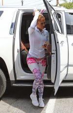 JENNIFER LOPEZ Arrives at a Gym in Beverly HIlls 04/01/2018