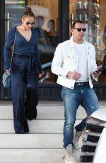 JENNIFER LOPEZ Shopping at Barneys New York in Beverly Hills 04/03/2018