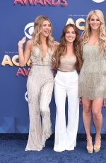 JENNIFER WAYNE, NAOMI COOKE and HANNAH MULHOLLAND at 2018 ACM Awards in Las Vegas 04/15/2018
