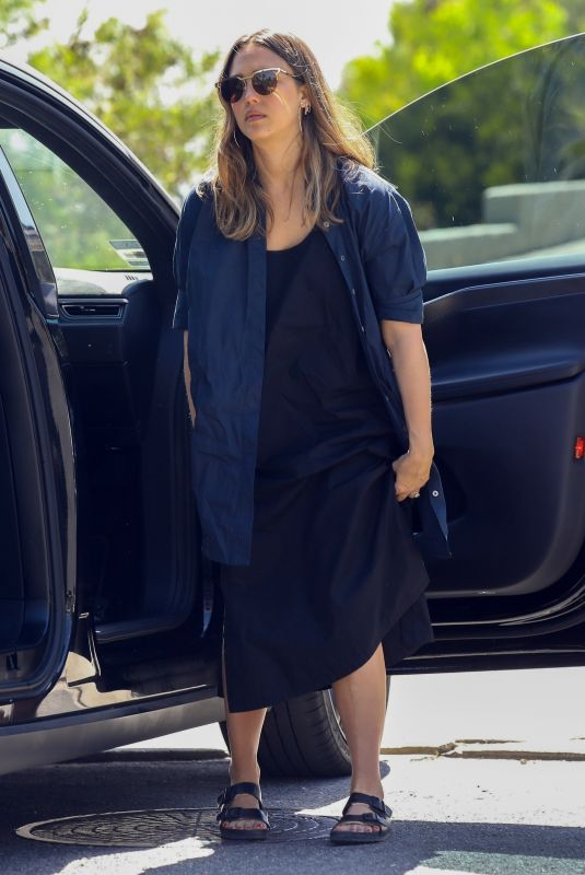 JESSICA ALBA Arrives at a Birthday Party in Beverly Hills 04/14/2018