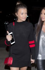 JESSICA and NATALIA WRIGHT Out for Dinner at Craig