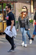 JESSICA CHASTAIN and Gian Luca Passi De Preposulo at Disneyland 03/30/2018