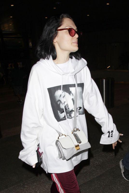 JESSIE J at Los Angeles International Airport 04/21/2018
