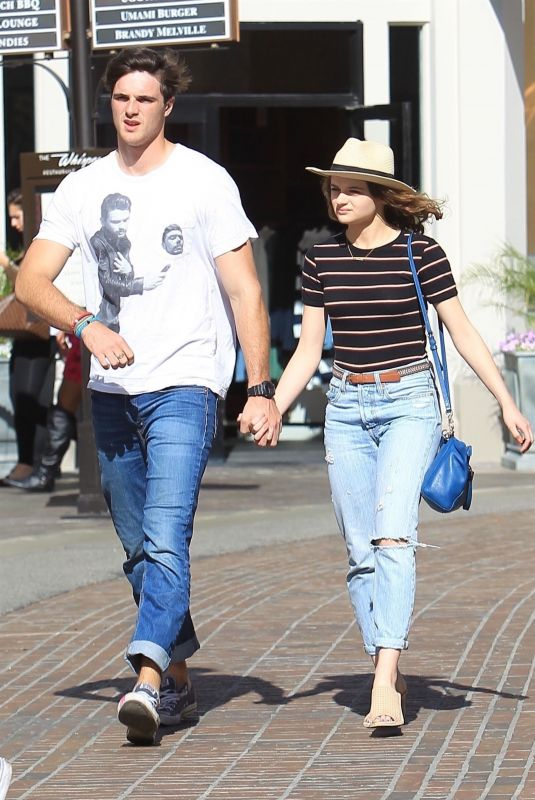JOEY KING and Jacob Elordi Shopping at The Grove in Los Angeles 04/11/2018
