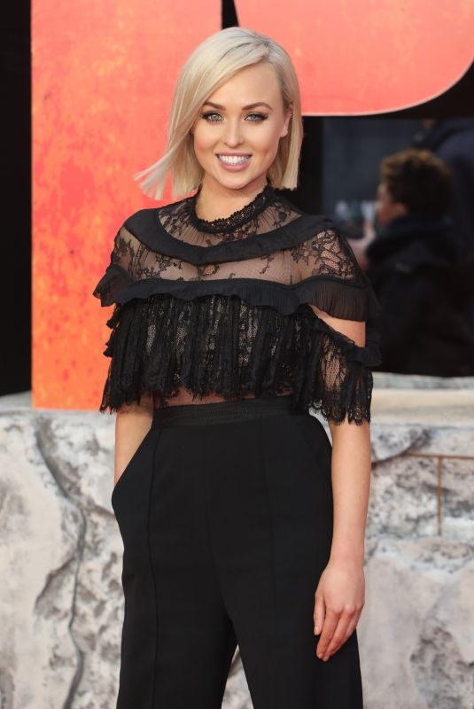 JORDGIE PORTER at Rampage Premiere in London 04/11/2018