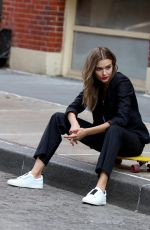 JOSEPHINE SKRIVER at a Photoshoot in New York 04/05/2018