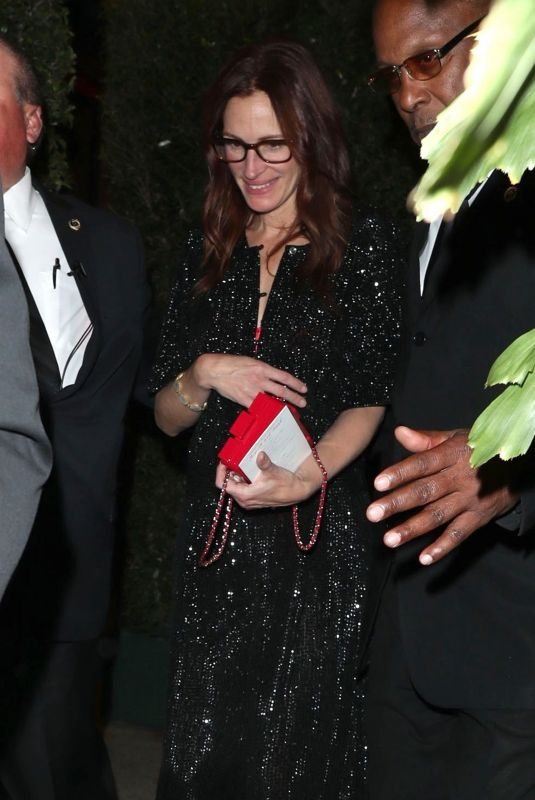 JULIA ROBERTS at Gwyneth Paltrow and Brad Falchuk's Engagement Party in Los Angeles 04/14/2018