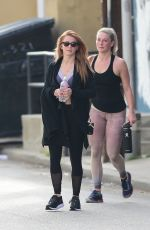 JULIANNE HOUGH and a Friend Leaves a Gym in Los Angeles 04/03/2018