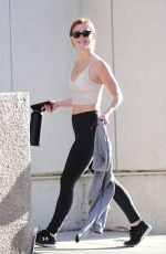 JULIANNE HOUGH in Tights Heading to a Gym in Los Angeles 04/09/2018