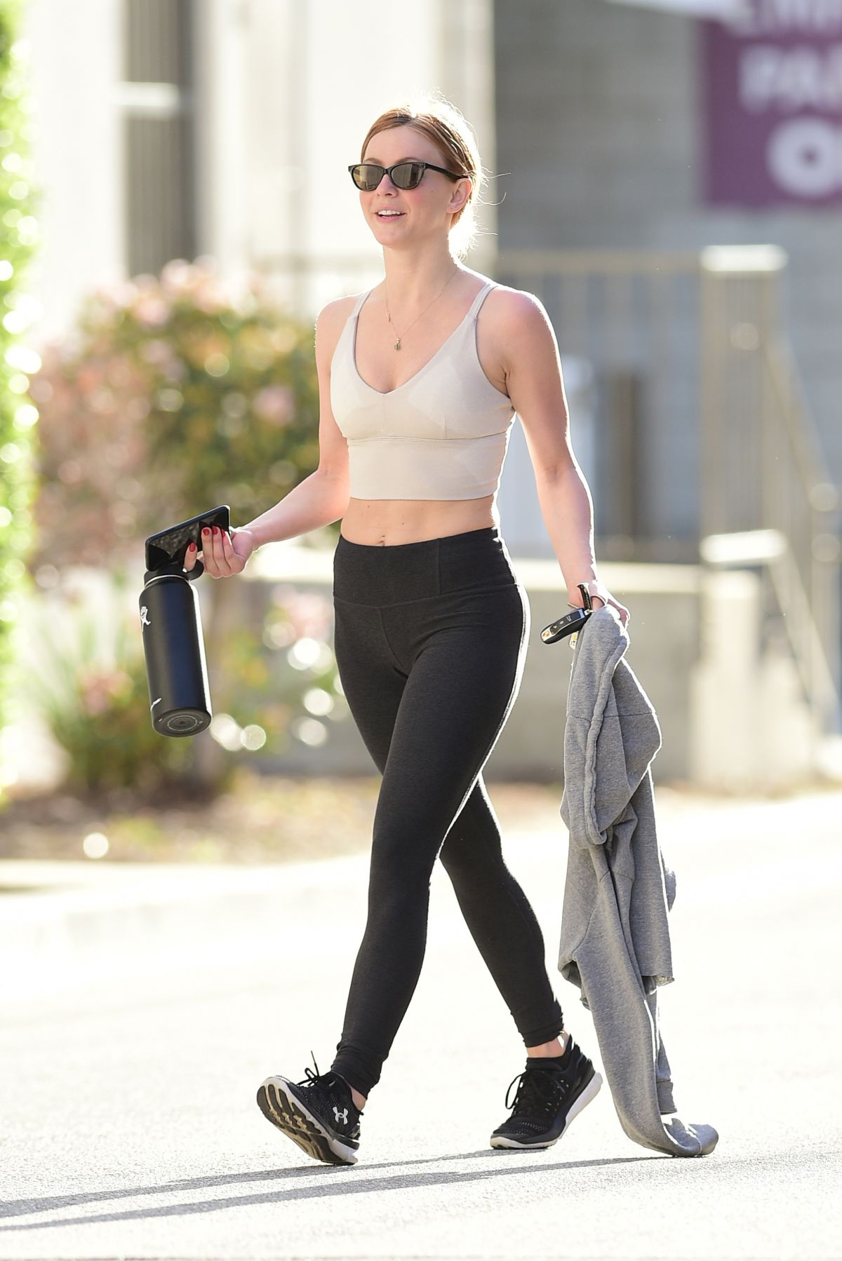JULIANNE HOUGH in Tights Heading to a Gym in Los Angeles