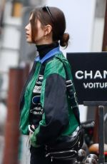 KAIA GERBER Arrives at Chanel Office in Paris 04/03/2018