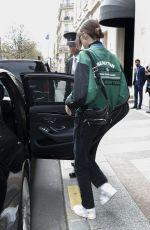 KAIA GERBER Leaves Her Hotel in Paris 04/03/2018
