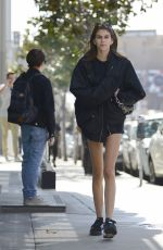 KAIA GERBER Leaves Tocaya Organica in West Hollywood 04/20/2018