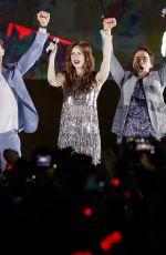 KAREN GILLAN at Avengers: Infinity War Fan Event in Singapore 04/16/2018