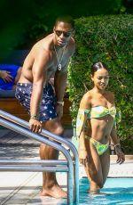 KARRUECHE TRAN in Bikini ata Pool in Miami 04/13/2018