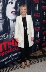 KATE THORNTON at Witness for the Prosecution by Agatha Christie Play in London 04/25/2018