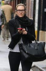 KATE WINSLET Out and About in New York 04/27/2018