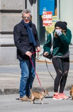 KATHARINE MCPHEE and David Foster Out with Their Dogs in New York 04/05/2018
