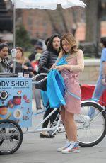 KATHARINE MCPHEE at Body Shops New Body Yogurts Cart in New York 04/13/2018