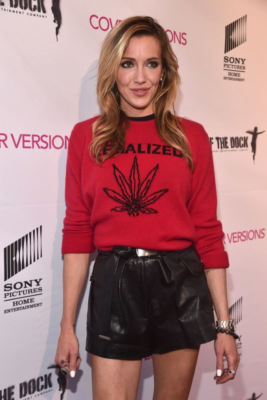 KATIE CASSIDY at Cover Versions Premiere in Los Angeles 04/09/2018