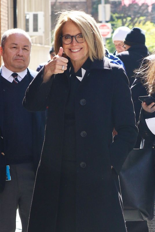KATIE COURIC Arrves at The View in New York 04/11/2018