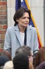 KATIE HOLMES on the Set of New Fox FBI Drama in Chicago 04/11/2018