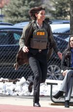KATIE HOLMES on the Set of Untitled FBI FOX Project in Chicago 04/10/2018