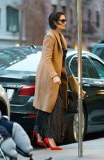 KATIE HOLMES Out and About in New York 04/18/2018