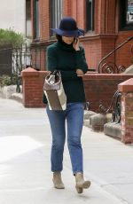 KATIE HOLMES Out and About in New York 04/24/2018