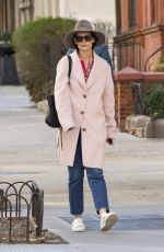 KATIE HOLMES Out in New York 04/18/2018