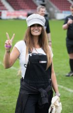 KATIE PRICE and KERRY KATONA at Cellebrity Soccer Match at Sixfields Stadium in Northampton 04/15/2018
