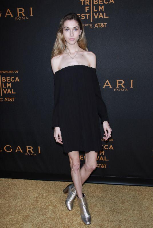KATIE SCHMID at Bvlgari Premiere at Tribeca Film Festival 04/26/2018